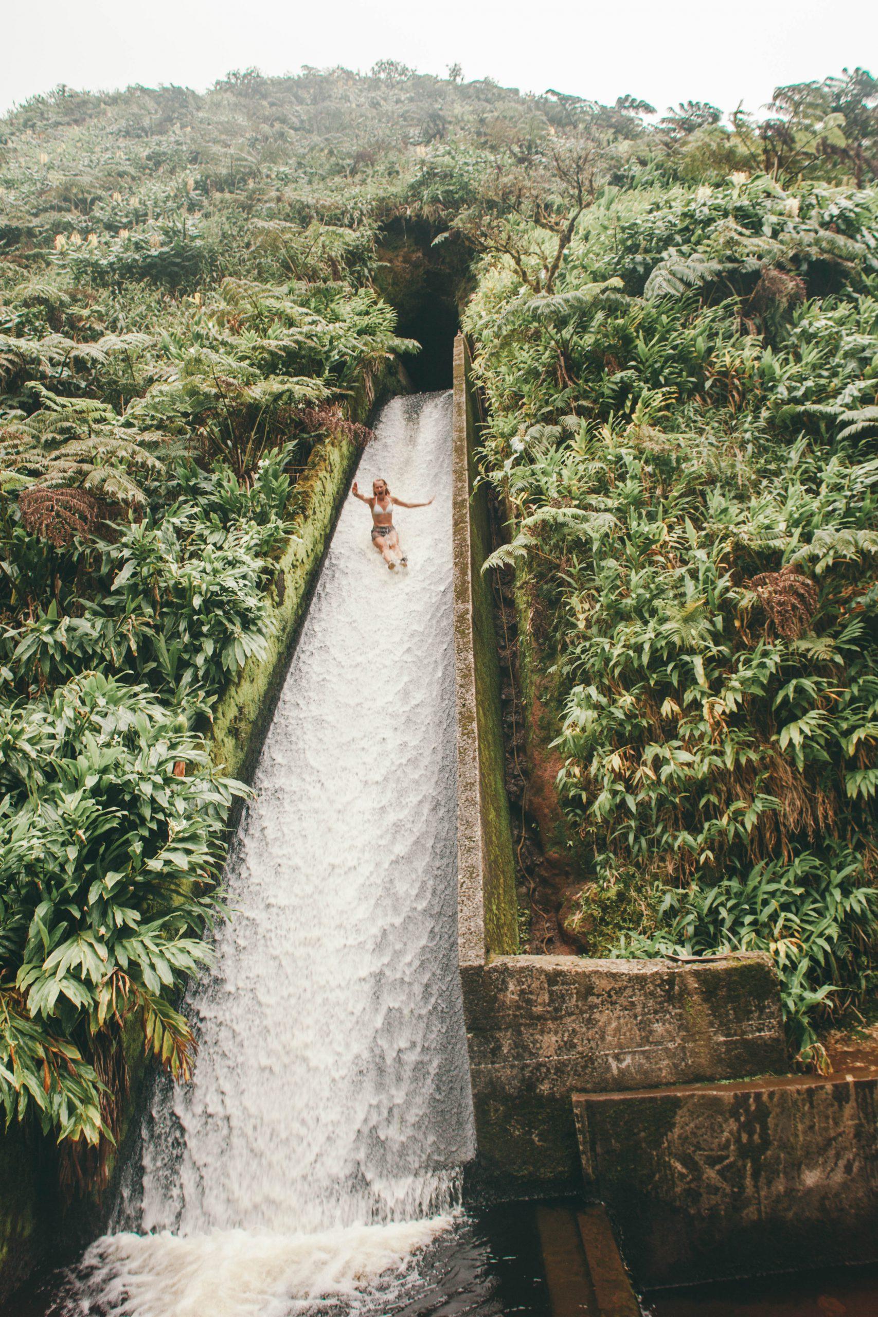 nature waterslide Hawaii