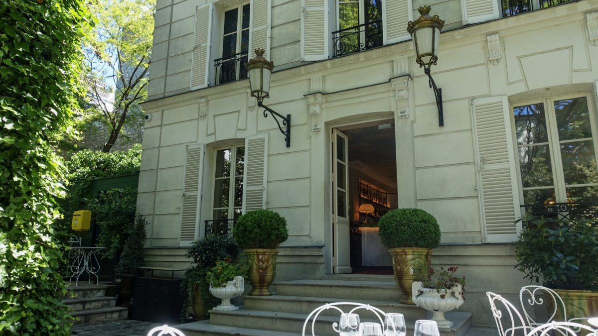 Parijs Hotel Particulier Montmartre terras