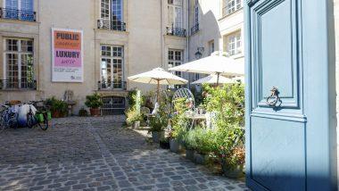 Parijs Binnenplein zweeds instuut Parijs Cafe Suedois