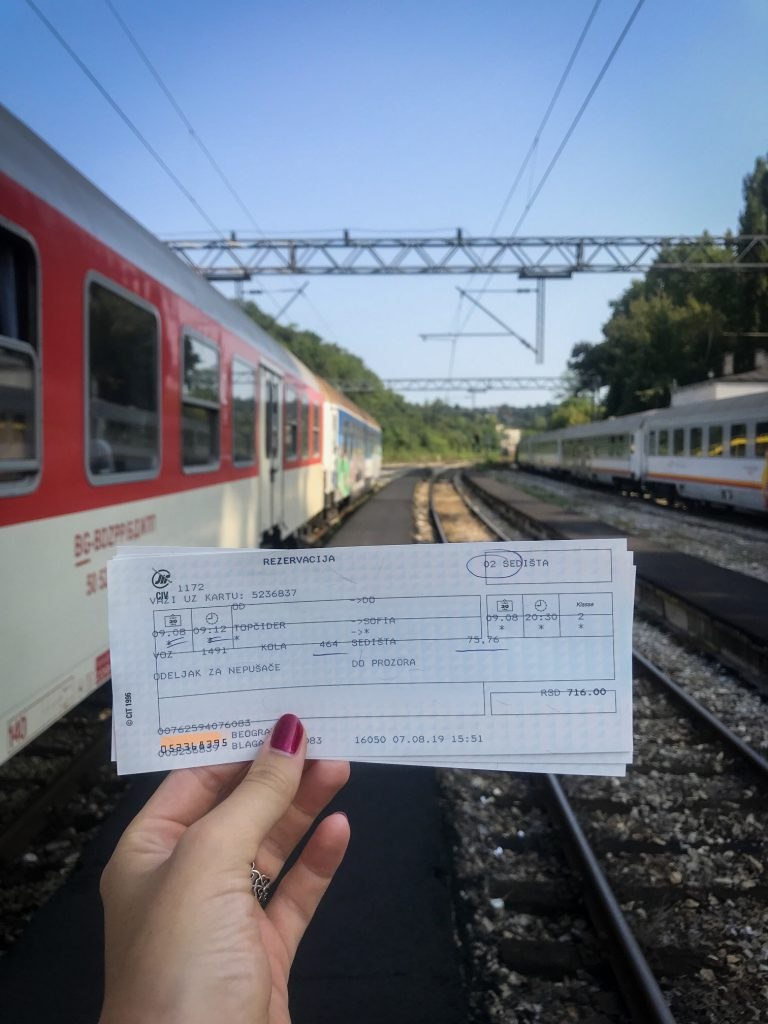 traintickets from bar to servië