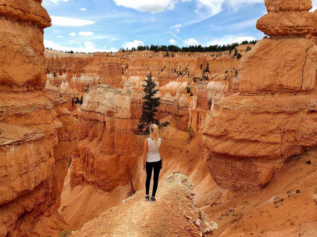 navaja loop west-amerika vrouw uitzicht