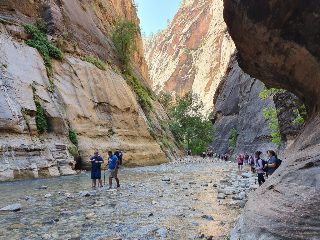 the narrows zion national park west amerika foto