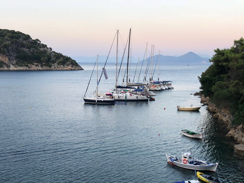 flottielje zeilen griekenland uitzicht