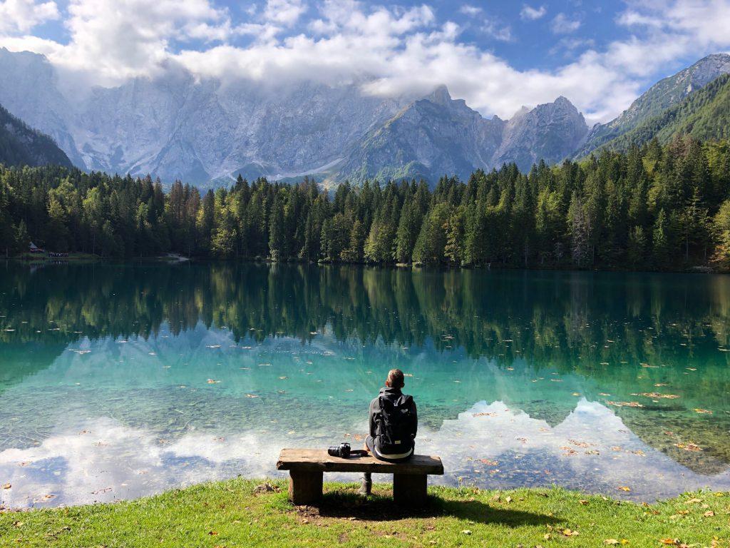 uitzicht Lago di Fusine Italië
