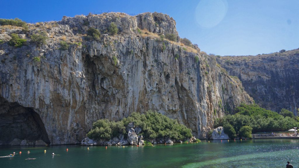 Lake vouliagmeni view water
