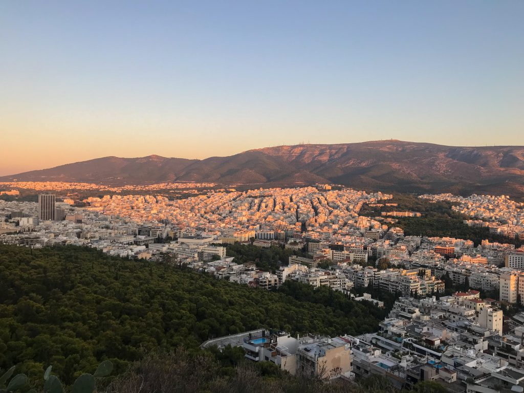 view from lycabettus hill athene