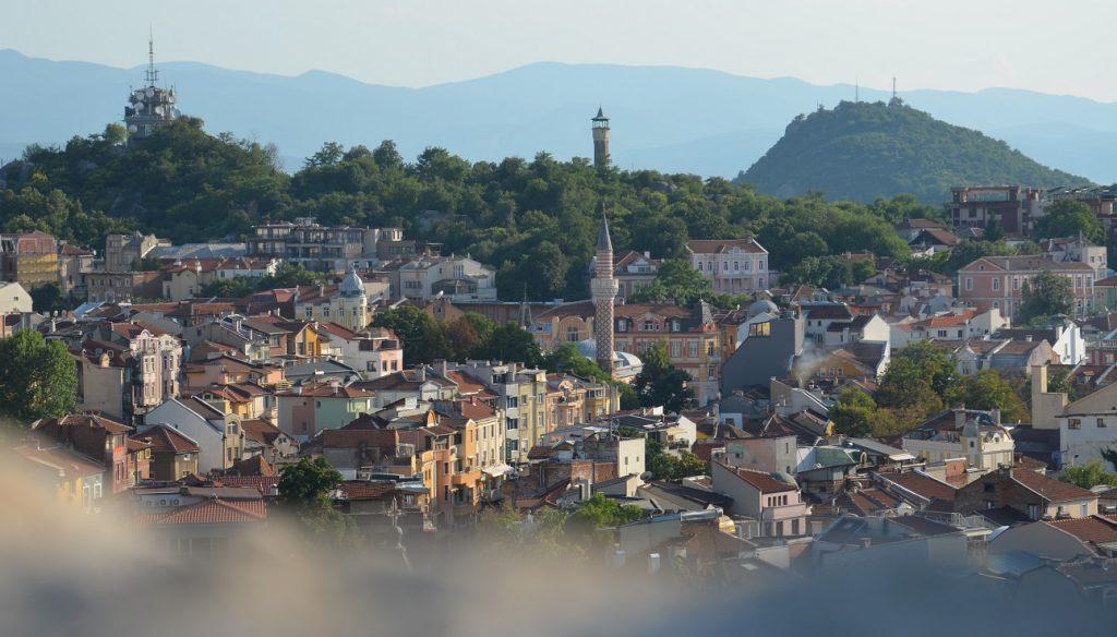 uitzicht Plovdiv heuvels
