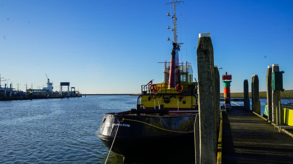 historic boat langenort waddenzee