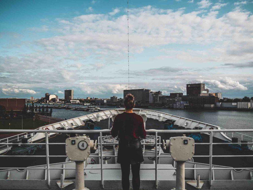 SS Rotterdam uitzicht
